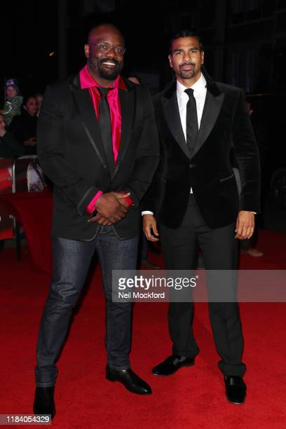 Dereck Chisora and David Haye arrive on the red carpet of Pride of Britain 2019 at Grosvenor House Hotel on October 28 2019 in London England