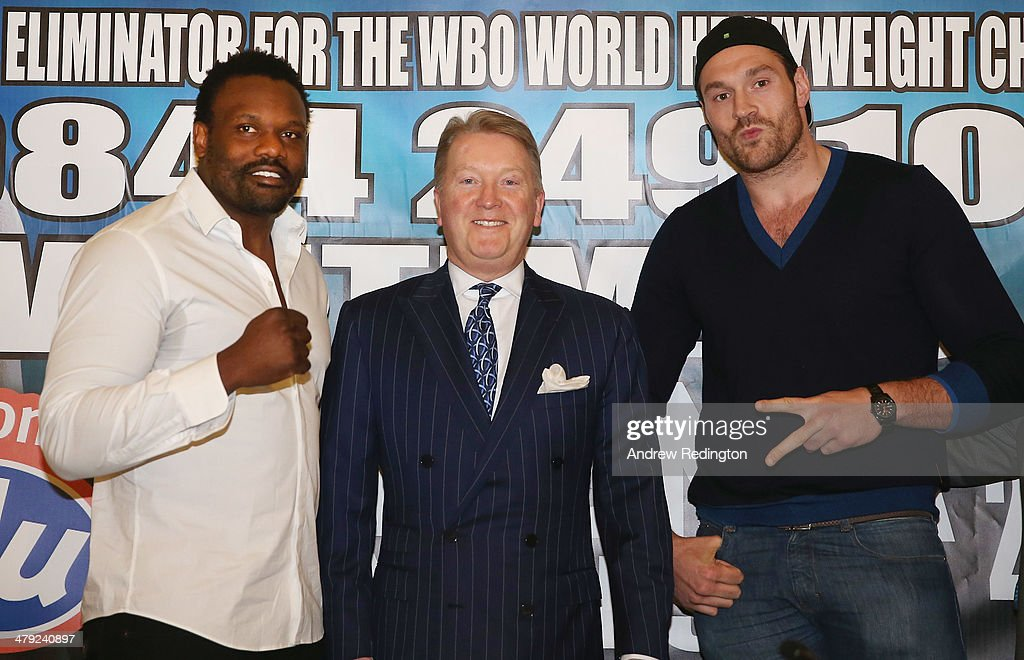 Dereck Chisora And Tyson Fury Press Conference