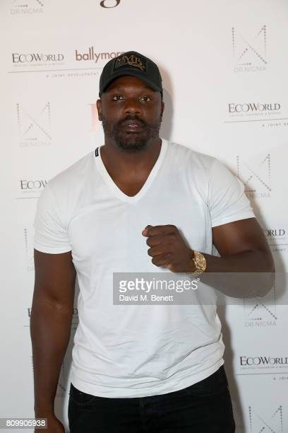 Dereck Chisora attends a celebration of wellness and personal wellbeing at Embassy Gardens on July 6 2017 in London England