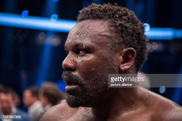 Dereck Chisora of Britain reacts after his defeat against Kubrat Pulev of Bulgaria after their European Heavyweight Championship boxing match in...