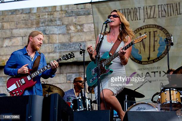 Dereck Trucks and Susan Tedeschi of the Tedeschi Trucks Band perform during the 2012 Newport Jazz Festival at Fort Adams State Park on August 5 2012...