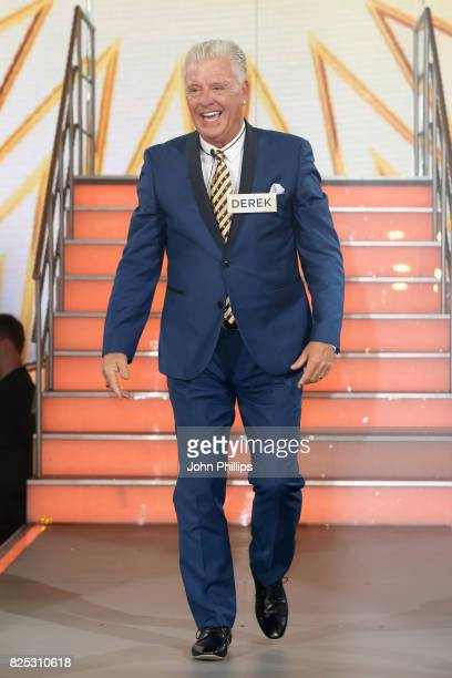 Derek Acorah enters the Big Brother House for the Celebrity Big Brother launch at Elstree Studios on August 1 2017 in Borehamwood England