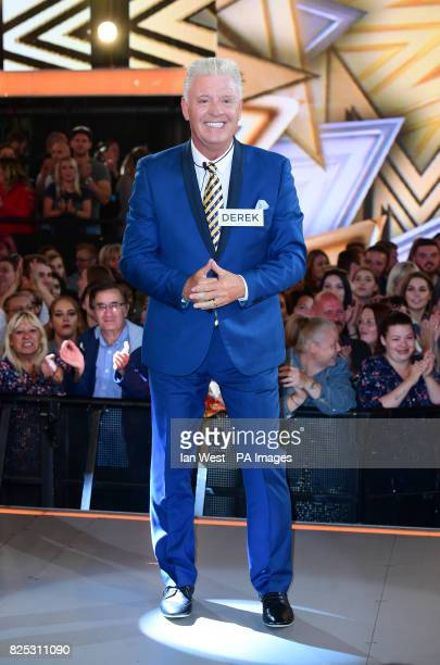 Derek Acorah enters the Celebrity Big Brother house at Elstree Studios in Borehamwood Herfordshire