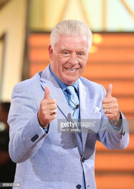 Derek Acorah leaves the house after being evicted during the Celebrity Big Brother Final at Elstree Studios on August 25 2017 in Borehamwood England