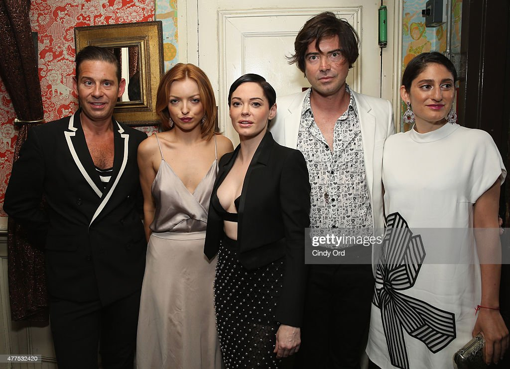 Derek Anderson, Francesca Eastwood, Rose McGowan, Victor Kubicek and Arden Wohl attend the Casa Reale Fine Jewelry Launch at The Box on June 17, 2015 in New York City.