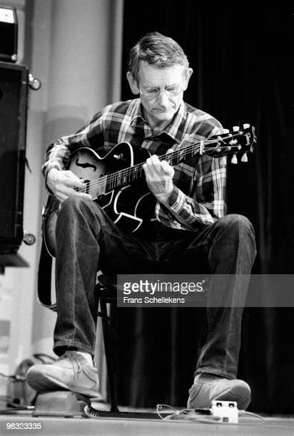 Derek Bailey performs live on stage at Concertgebouw in Amsterdam, Netherlands on June 14 1984