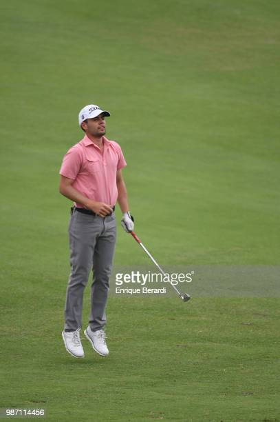Derek Bard of the United States during the final round of the PGA TOUR Latinoamérica Guatemala Stella Artois Open at La Reunion Golf Resort Fuego...