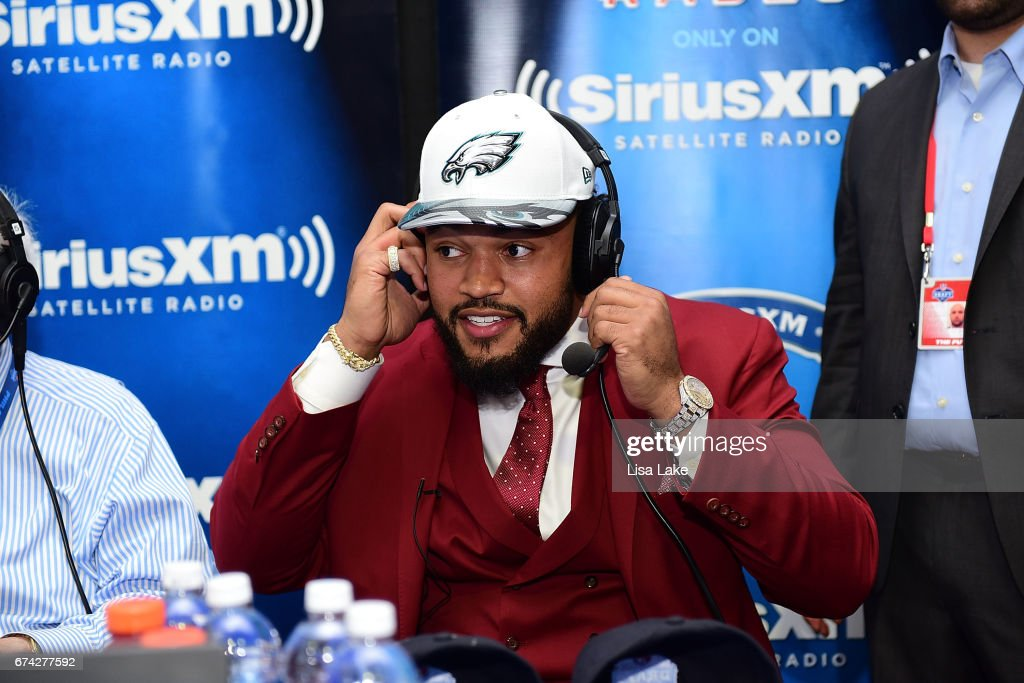 Derek Barnett of Tennessee visits the SiriusXM NFL Radio talkshow after being picked #14 overall by the Philadelphia Eagles during the first round of 2017 NFL Draft at Philadelphia Museum of Art on April 27, 2017 in Philadelphia, Pennsylvania.