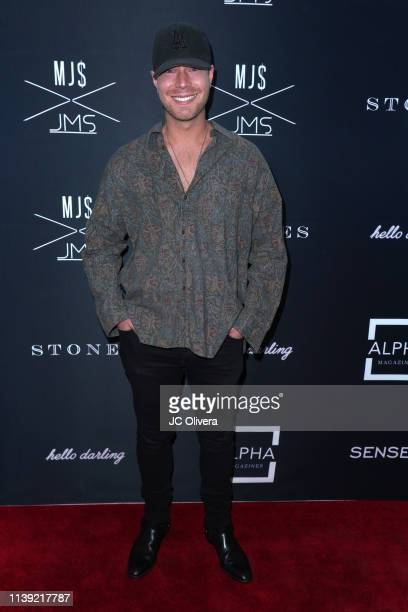 Derek Beckman attends Matt Sarafa and Jonathan Marc Stein's new 'Rich' clothing line release and fashion show on March 29 2019 in Los Angeles...