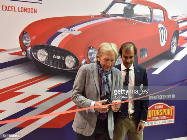 Derek Bell and Emanuele Pirro London Classic Car Show at ExCel on February 23 2017 in London England The London Classic Car Show brings together an...