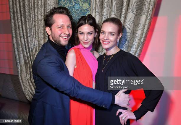 Derek Blasberg Alexa Chung and Natalia Vodianova attend the Victoria Beckham x YouTube Fashion Beauty After Party at London Fashion Week hosted by...
