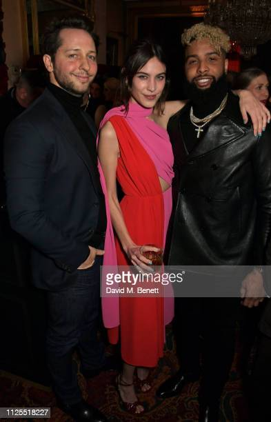 Derek Blasberg, Alexa Chung and Odell Beckham Jr. Attend the Victoria Beckham x YouTube Fashion & Beauty after party at London Fashion Week hosted by...