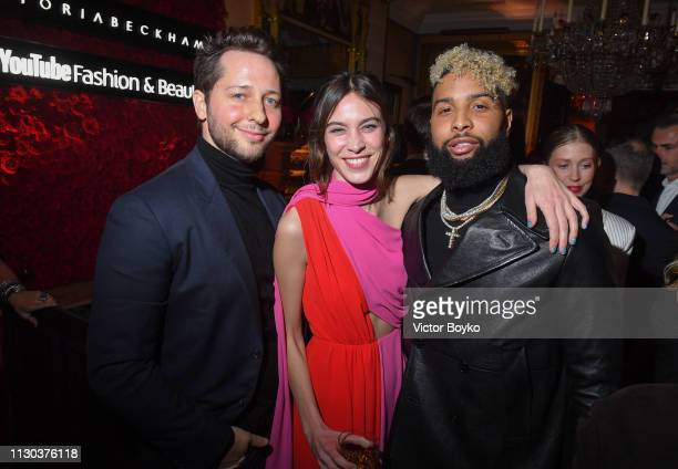 Derek Blasberg Alexa Chung and Odell Beckham Jr attend the Victoria Beckham x YouTube Fashion Beauty After Party at London Fashion Week hosted by...