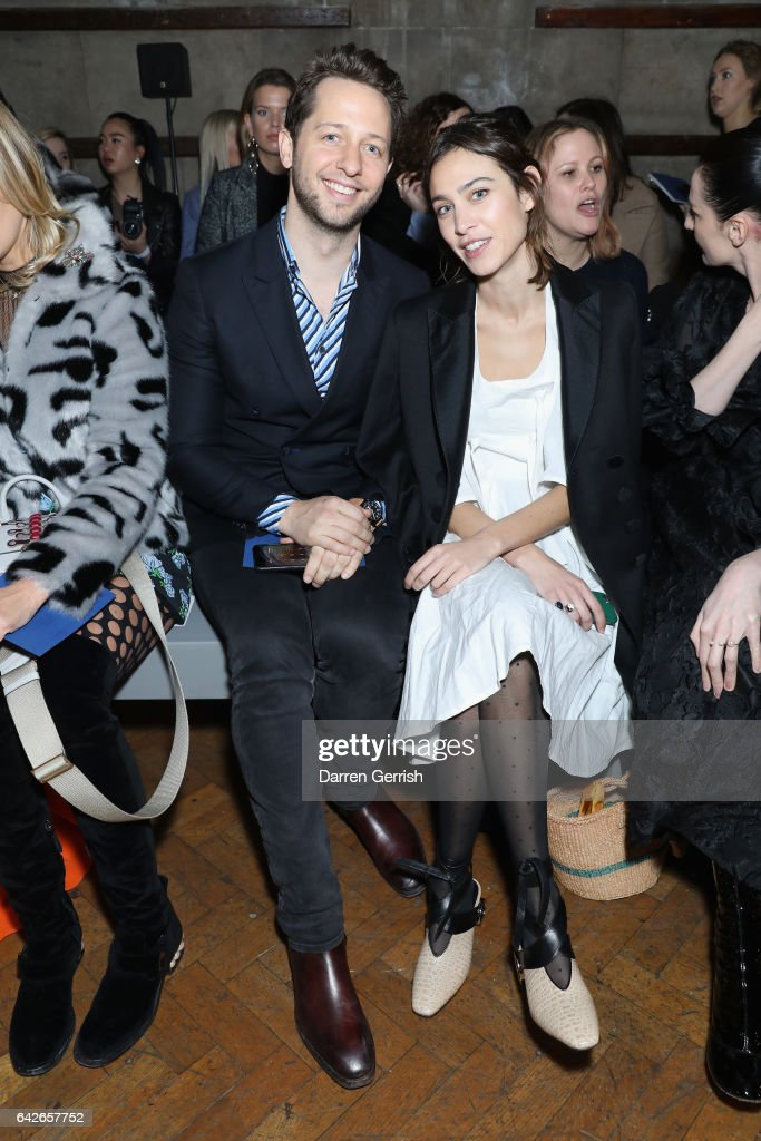 Derek Blasberg (L) and Alexa Chung attend the Emilia Wickstead show during the London Fashion Week February 2017 collections on February 18, 2017 in London, England.