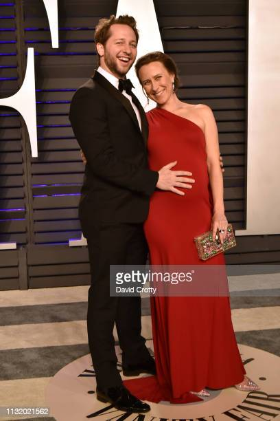 Derek Blasberg and Anne Wojcicki attends the 2019 Vanity Fair Oscar Party at Wallis Annenberg Center for the Performing Arts on February 24 2019 in...