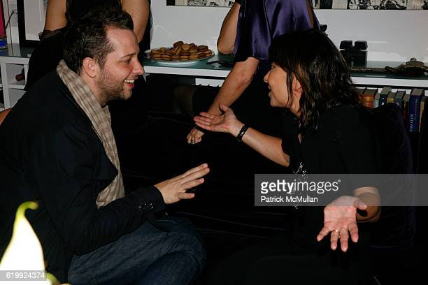 Derek Blasberg and Barbara Bui attend CHARLOTTE SARKOZY hosts cocktails in honor of BARBARA BUI at Private Residence on October 30 2008 in New York...
