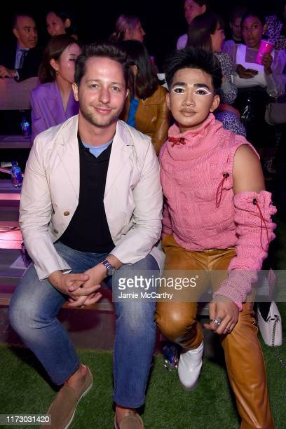 Derek Blasberg and Bretman Rock attend the Brandon Maxwell Front Row during New York Fashion Week The Shows on September 07 2019 in New York City