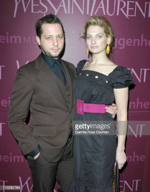 Derek Blasberg and Claire Bernard wearing Yves Saint Laurent