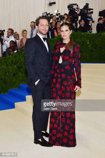 Derek Blasberg and Dasha Zhukova arrives at Rei Kawakubo/Comme des Garcons Art Of The InBetween Costume Institute Gala at The Metropolitan Museum on...