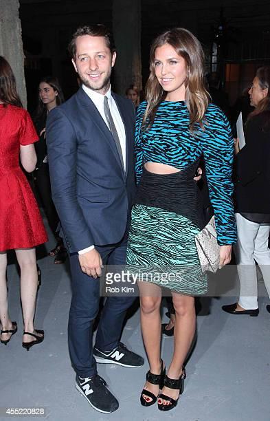 Derek Blasberg and Dasha Zhukova attend Proenza Schouler during MercedesBenz Fashion Week Spring 2015 at 23 Wall Street on September 10 2014 in New...