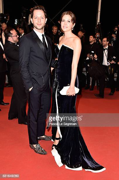 Derek Blasberg and Dasha Zhukova attend The Nice Guys premiere during the 69th annual Cannes Film Festival at the Palais des Festivals on May 15 2016...