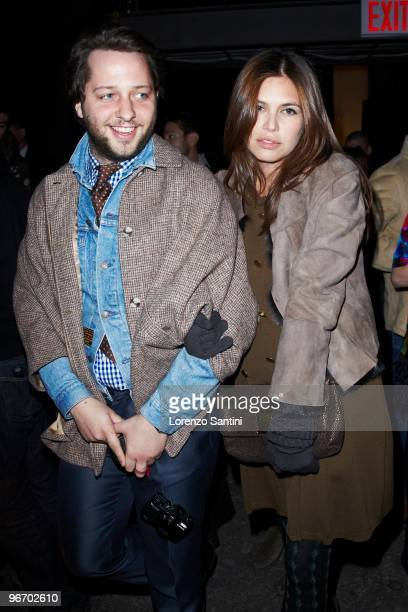 Derek Blasberg and Dasha Zukova attend Thakoon Fall 2010 during MercedesBenz Fashion Week at Eyebeam Gallery on February 14 2010 in New York City