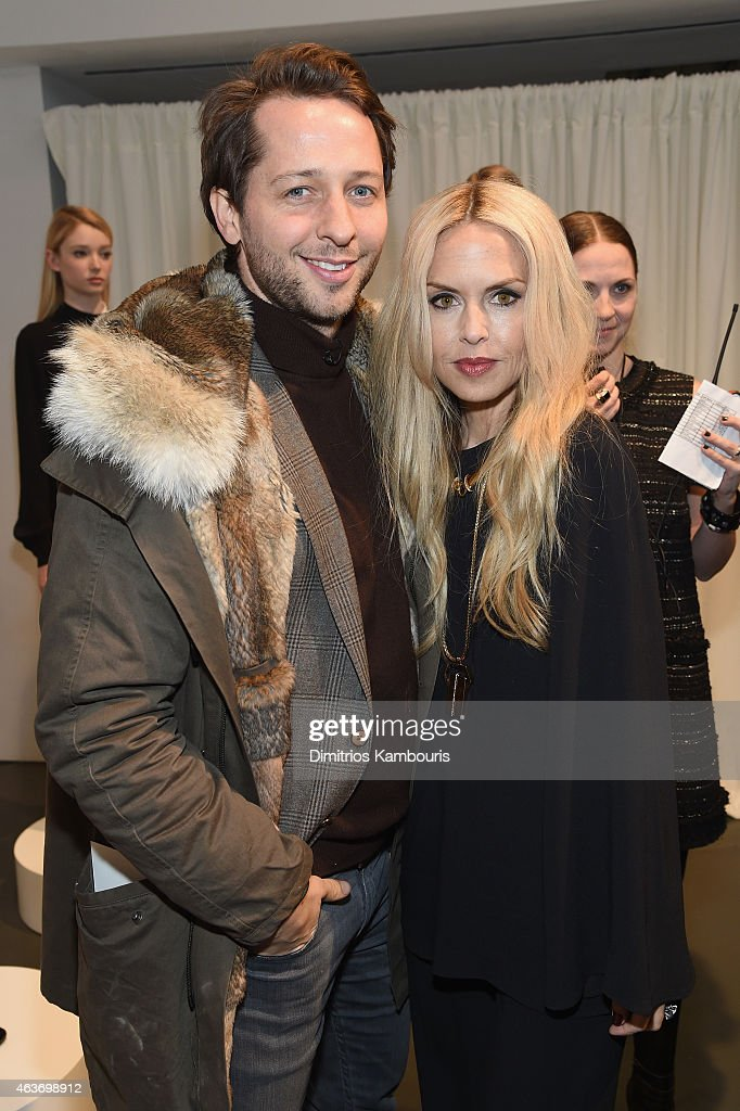 Derek Blasberg and designer Rachel Zoe attend the Rachel Zoe presentation during Mercedes-Benz Fashion Week Fall 2015 at Affirmation Arts on February 17, 2015 in New York City.