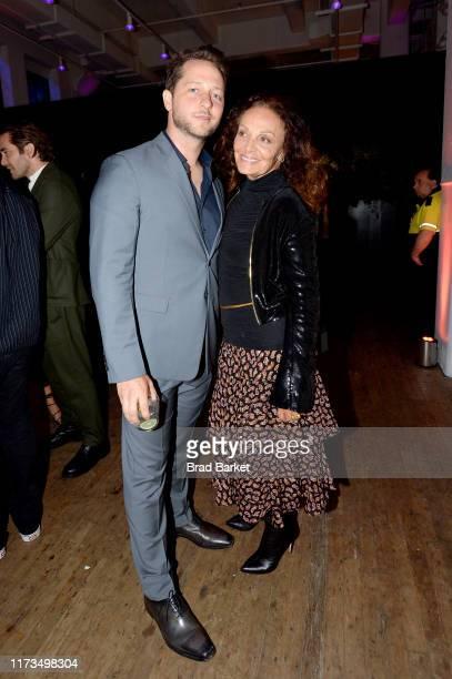 Derek Blasberg and Diane von Furstenberg celebrate the launch of YouTubecom/Fashion on September 09 2019 in New York City