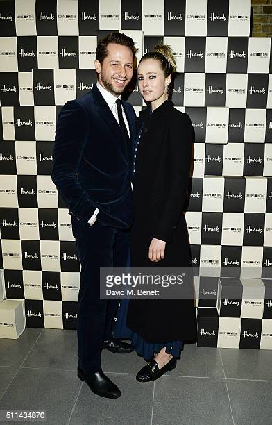 Derek Blasberg and Edie Campbell attend the Serpentine Future Contemporaries x Harrods Party 2016 at The Serpentine Sackler Gallery on February 20...