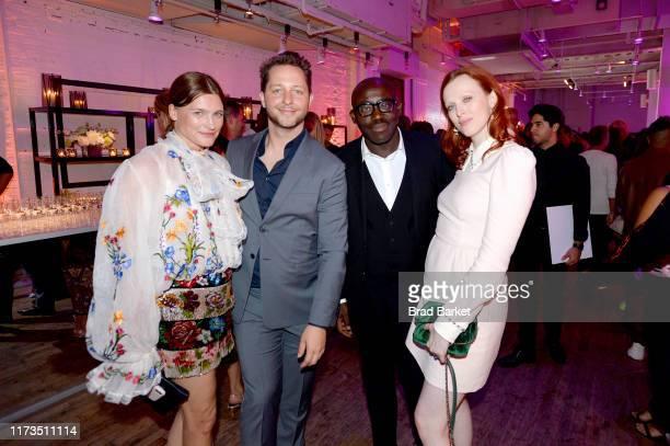 Derek Blasberg and Edward Enniful celebrate the launch of YouTubecom/Fashion on September 09 2019 in New York City