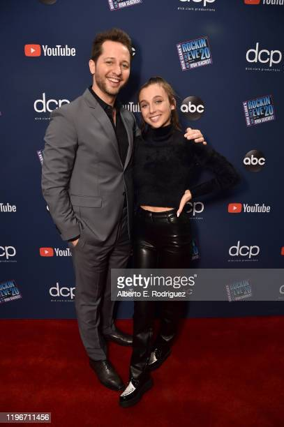 Derek Blasberg and Emma Chamberlain attend Dick Clark's New Year's Rockin' Eve with Ryan Seacrest 2020 Hollywood Party on November 23 2019 in Los...