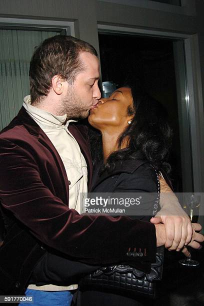 Derek Blasberg and Genevieve Jones attend Champagne Perrier Jouet Launch of the 1998 Fleur de Champagne at Soho Grand Penthouse Lofts on October 17,...
