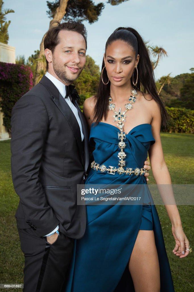 ca561f28355 Derek Blasberg and Joan Smalls attend the amfAR Gala Cannes 2017 at ...