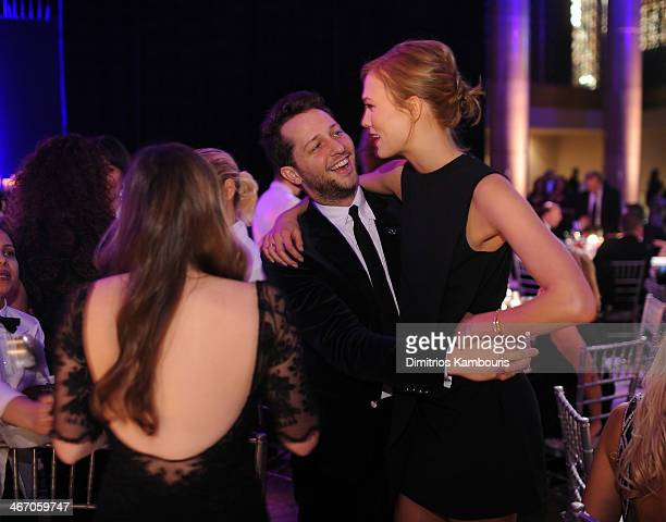 Derek Blasberg and Karlie Kloss attend the 2014 amfAR New York Gala at Cipriani Wall Street on February 5 2014 in New York City