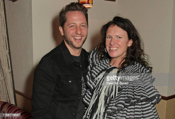 Derek Blasberg and Katie Grand attend the LOVE YouTube LFW party supported by PerrietJouet and hosted by Katie Grand Derek Blasberg at Decimo at The...