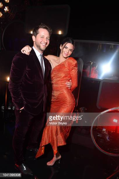 Derek Blasberg and Kendall Jenner attend the YouTube cocktail party during Paris Fashion Week on September 26 2018 in Paris France