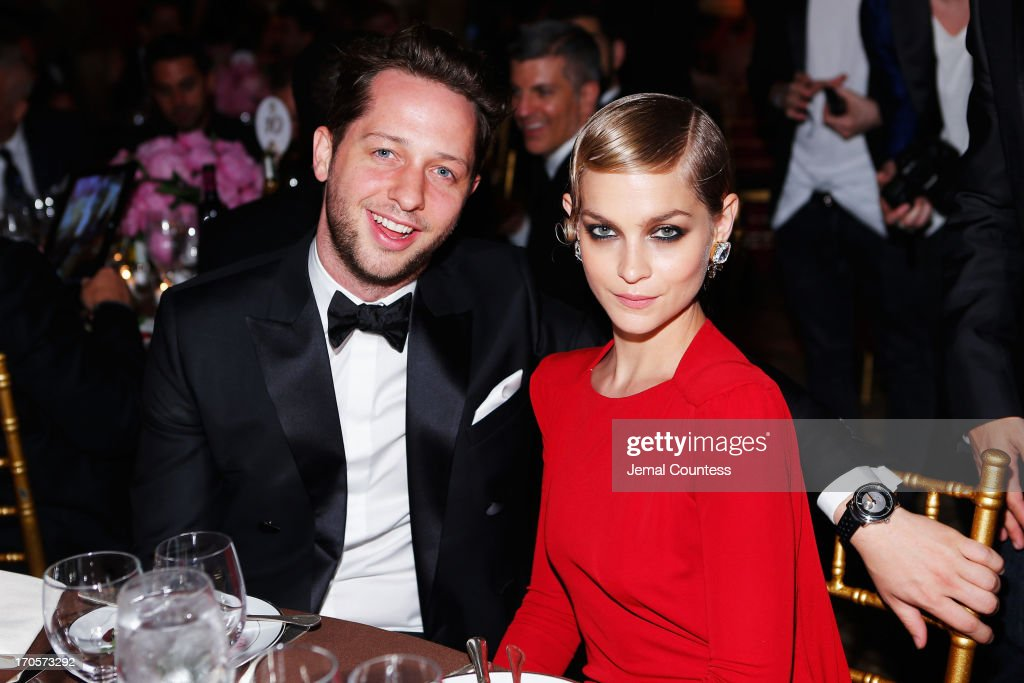 Derek Blasberg (L) and Leigh Lezark attend the 4th Annual amfAR Inspiration Gala New York at The Plaza Hotel on June 13, 2013 in New York City.