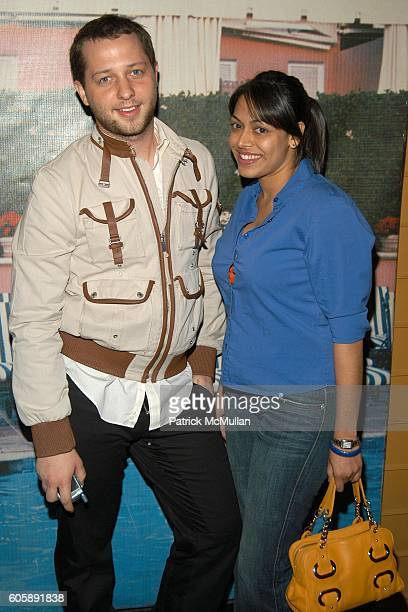 Derek Blasberg and Madhu Puri attend JORDANA BREWSTER's Blame it on Rio Birthday Party hosted by CABANA CACHACA at Bungalow 8 on April 20 2006 in New...