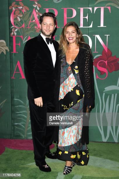 Derek Blasberg and Margherita Missoni attend the Green Carpet Fashion Awards during the Milan Fashion Week Spring/Summer 2020 on September 22 2019 in...