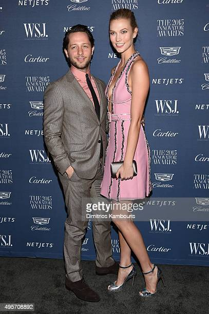 Derek Blasberg and model Karlie Kloss attend the WSJ Magazine 2015 Innovator Awards at the Museum of Modern Art on November 4 2015 in New York City