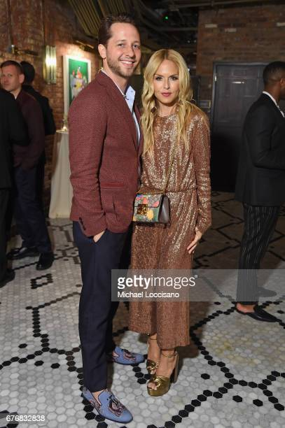 Derek Blasberg and Rachel Zoe attend cocktails hosted by The Business of Fashion to celebrate BoF's special print edition in America at Beekman Hotel...