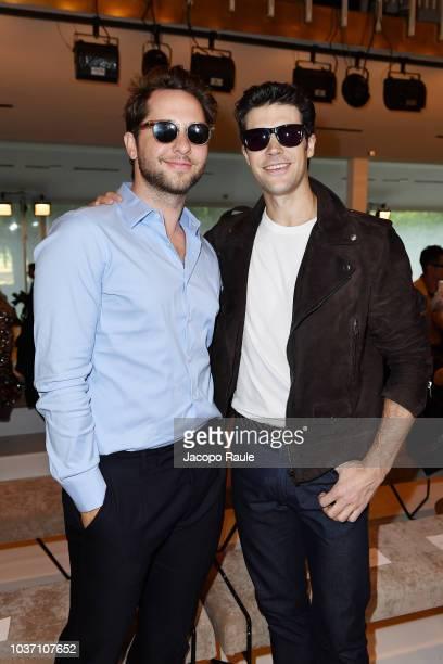 Derek Blasberg and Roberto Bolle attend the Tod's show during Milan Fashion Week Spring/Summer 2019 on September 21 2018 in Milan Italy
