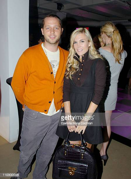 Derek Blasberg and Tinsley Mortimer during Victoria's Secret Launches Very Sexy Makeup After Party at Xchange in New York City New York United States