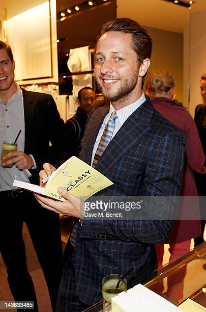 Derek Blasberg attends a cocktail party hosted by Gucci to celebrate 'Very Classy' by fashion writer Derek Blasberg at the Gucci Store Old Bond...