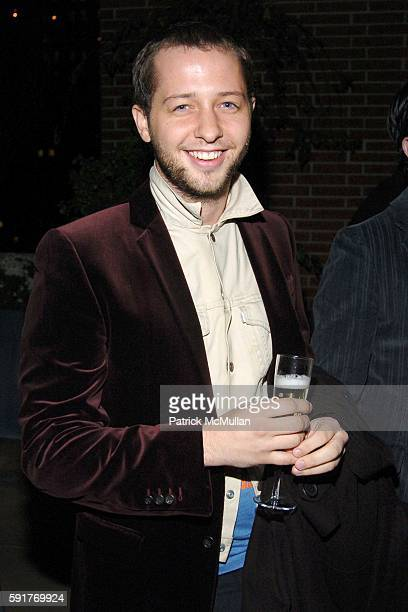 Derek Blasberg attends Champagne Perrier Jouet Launch of the 1998 Fleur de Champagne at Soho Grand Penthouse Lofts on October 17, 2005 in New York...