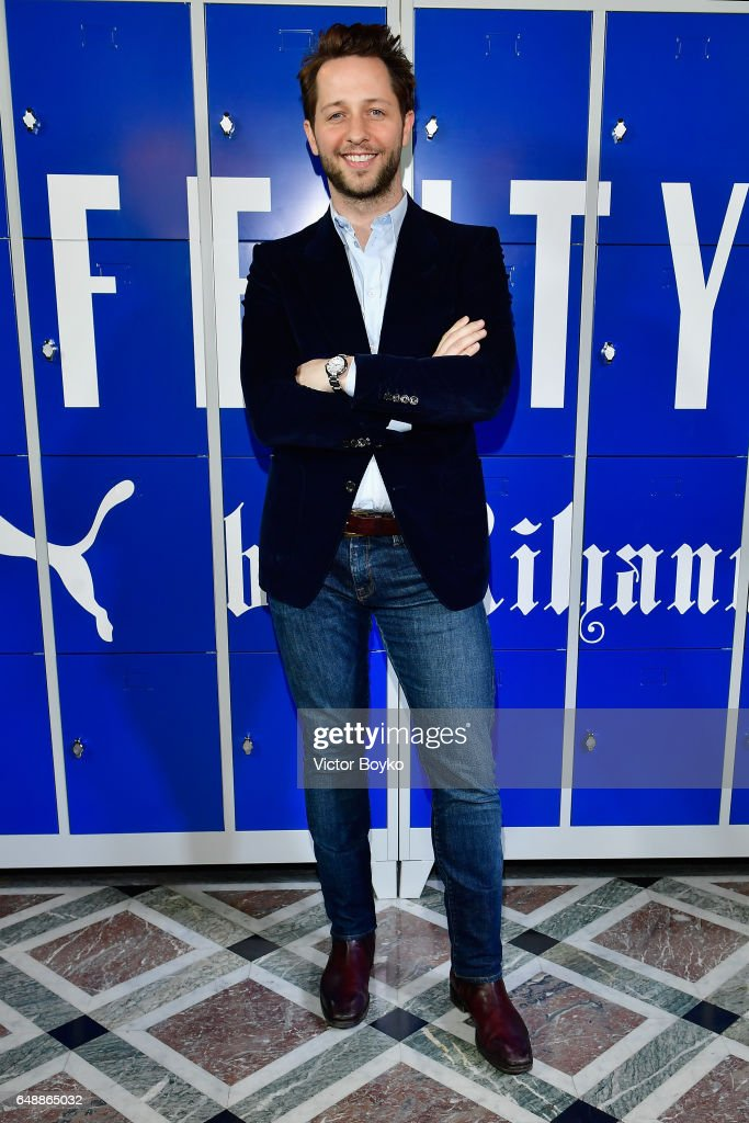 Derek Blasberg attends FENTY PUMA by Rihanna Fall / Winter 2017 Collection at Bibliotheque Nationale de France on March 6, 2017 in Paris, France.