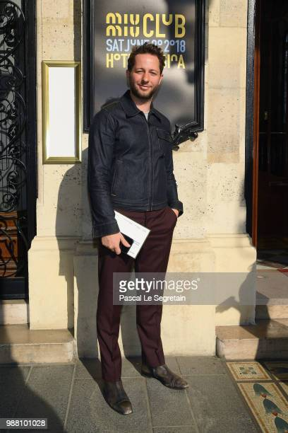 Derek Blasberg attends Miu Miu 2019 Cruise Collection Show at Hotel Regina on June 30 2018 in Paris France