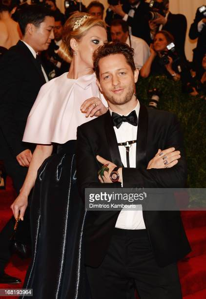 Derek Blasberg attends the Costume Institute Gala for the PUNK Chaos to Couture exhibition at the Metropolitan Museum of Art on May 6 2013 in New...