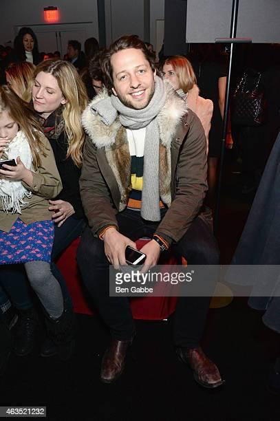 Derek Blasberg attends the Diane Von Furstenberg fashion show during MercedesBenz Fashion Week Fall 2015 at Spring Studios on February 15 2015 in New...