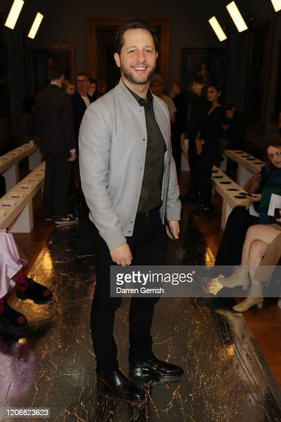 Derek Blasberg attends the Erdem show during London Fashion Week February 2020 on February 17 2020 in London England